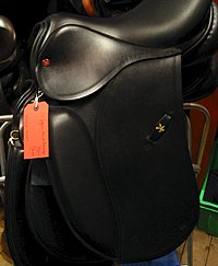 Saddles from Beavers, the Harrogate Horse Shop by Harlow Carr Gardens